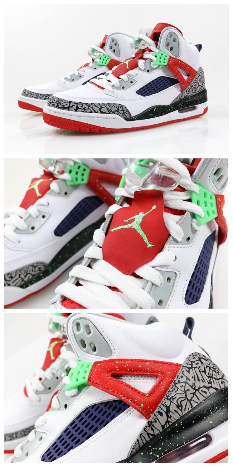 new product e5dbc 0b457 Nike Air Jordan Spizike  White Poison Green