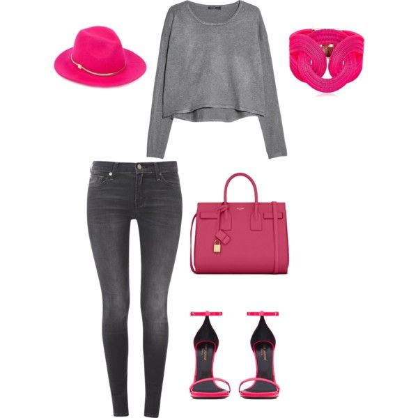 A fashion look from September 2014 featuring MANGO sweaters, 7 For All Mankind jeans and Yves Saint Laurent sandals. Browse and shop related looks.