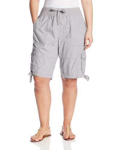 d02c4d9a5db Black Friday Calvin Klein Performance Women s Plus-Size Rib Waist 12 Inch  Bermuda Cargo Short