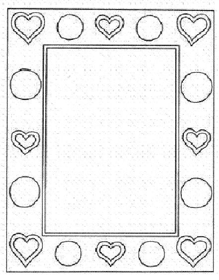 coloring sheets of heart frame
