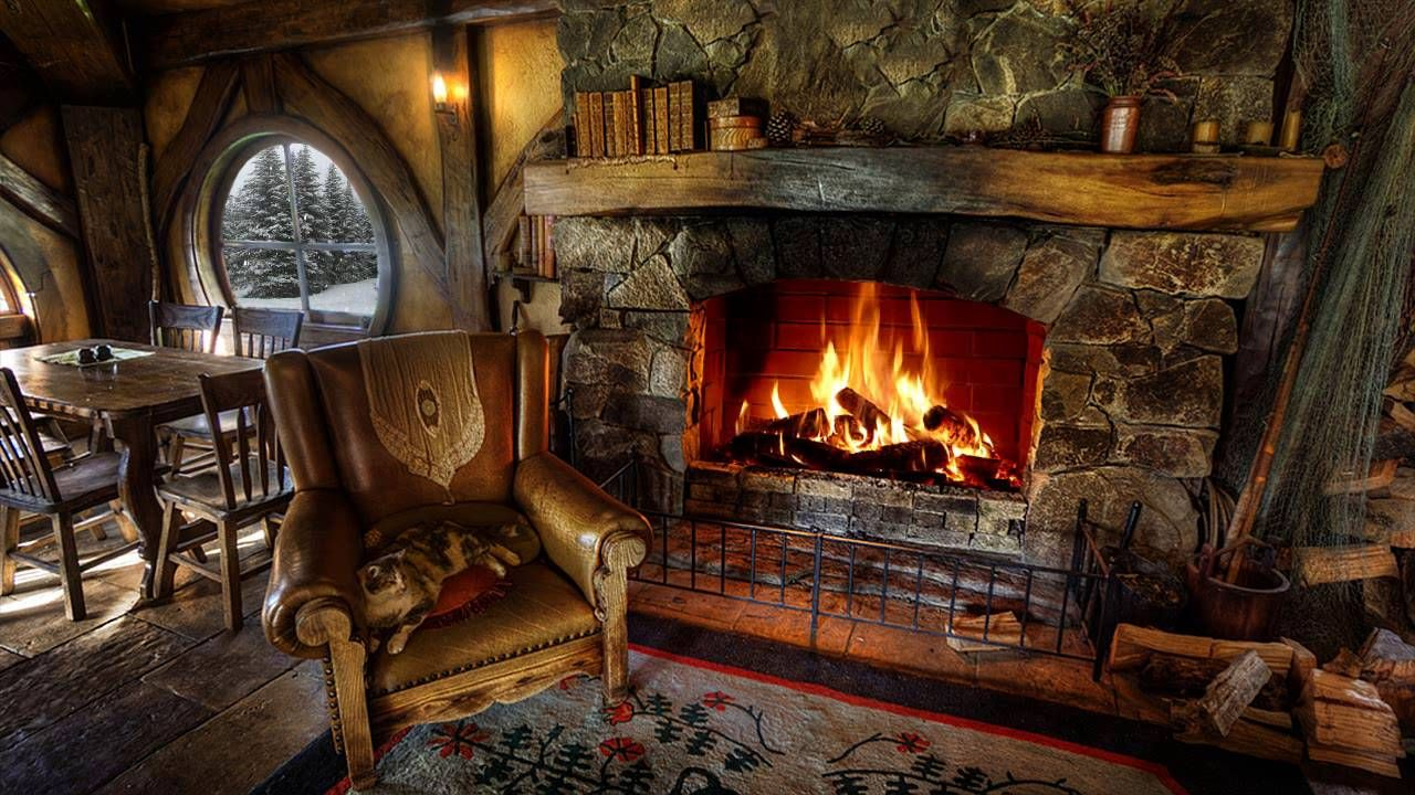 Christmas Falling Snow Wallpaper Note 3 Snow Amp Relaxing Fireplace Crackling Sound Cozy Fireplace