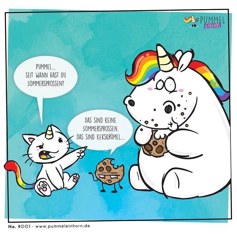 typisch pummel pummeleinhorn kekse cookies comic