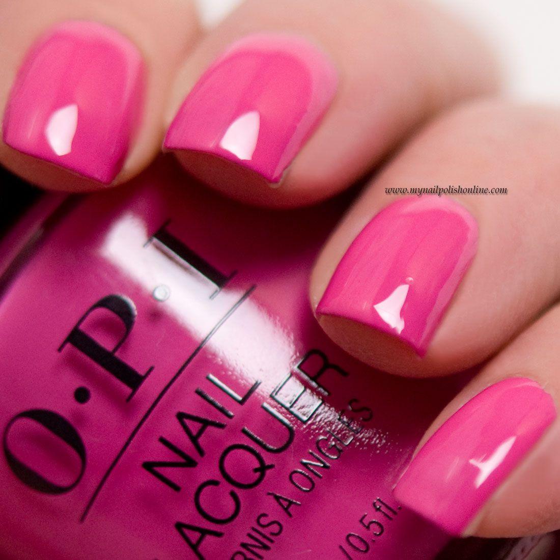 OPI No turning back from Pink Street | Nails | Nails, Nail polish ...