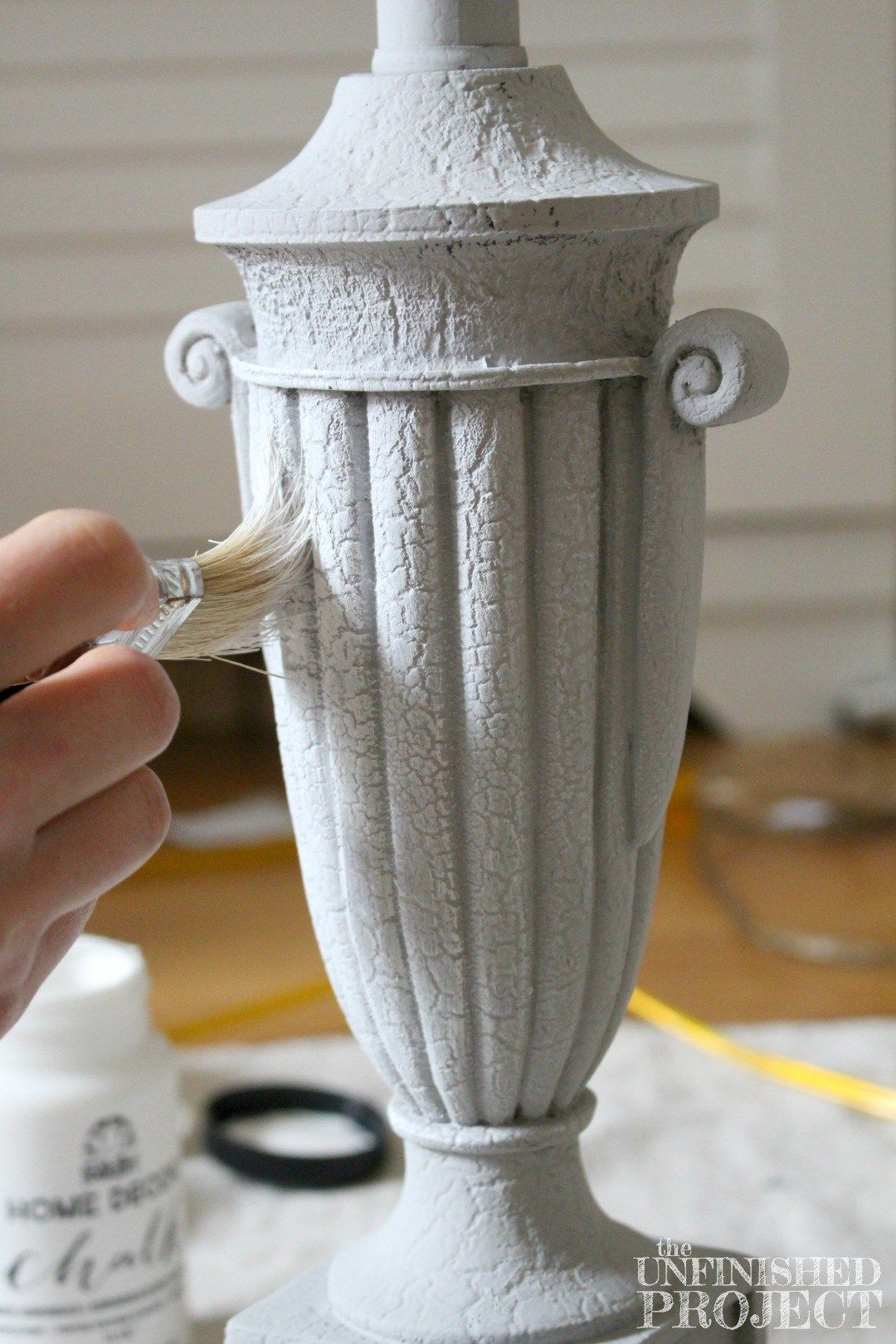 Lampenkappen Verven How To Paint A Lamp Shade With Chalk Paint Jolie Petite Vie