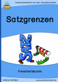 Satzgrenzen, Satzzeichen (kleine Kartei)