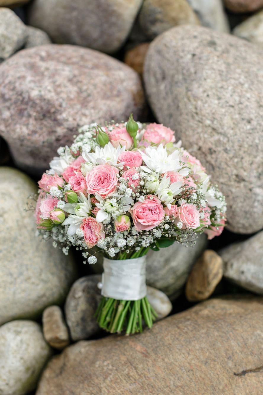 Brautstrau rosa  vom Sonnenblmchen in Schenefeld bei Hamburg  Hochzeitsblumen