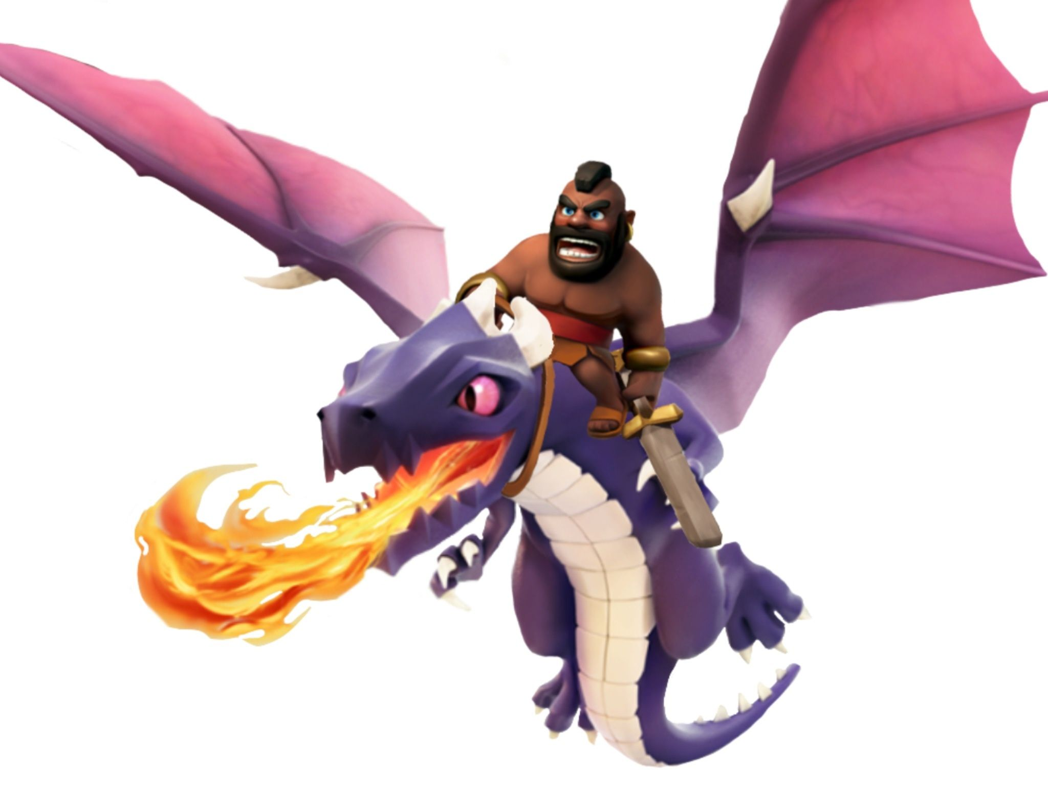 Image For Clash Of Clans Hog Rider Dragon 19 Free Hd Wallpaper