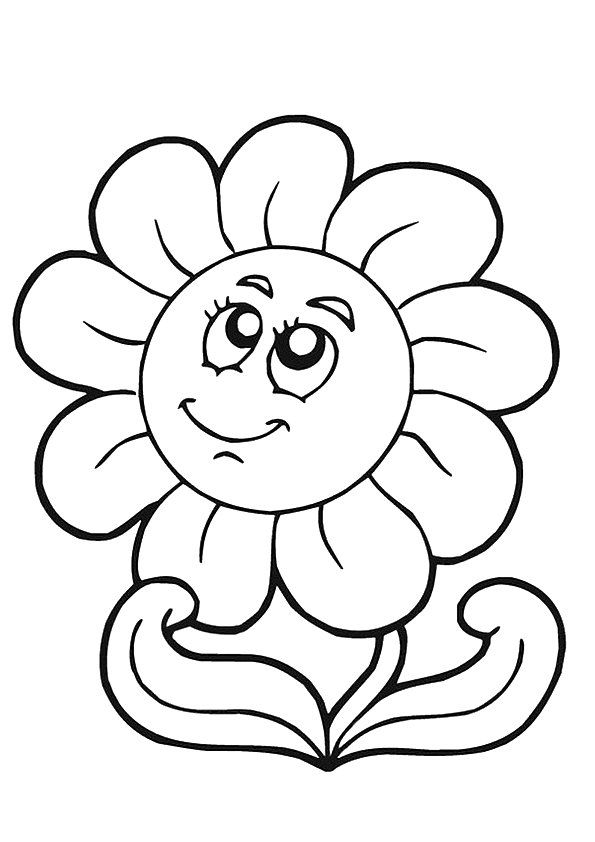 print coloring image | Sunflowers, Stenciling and Summer crafts