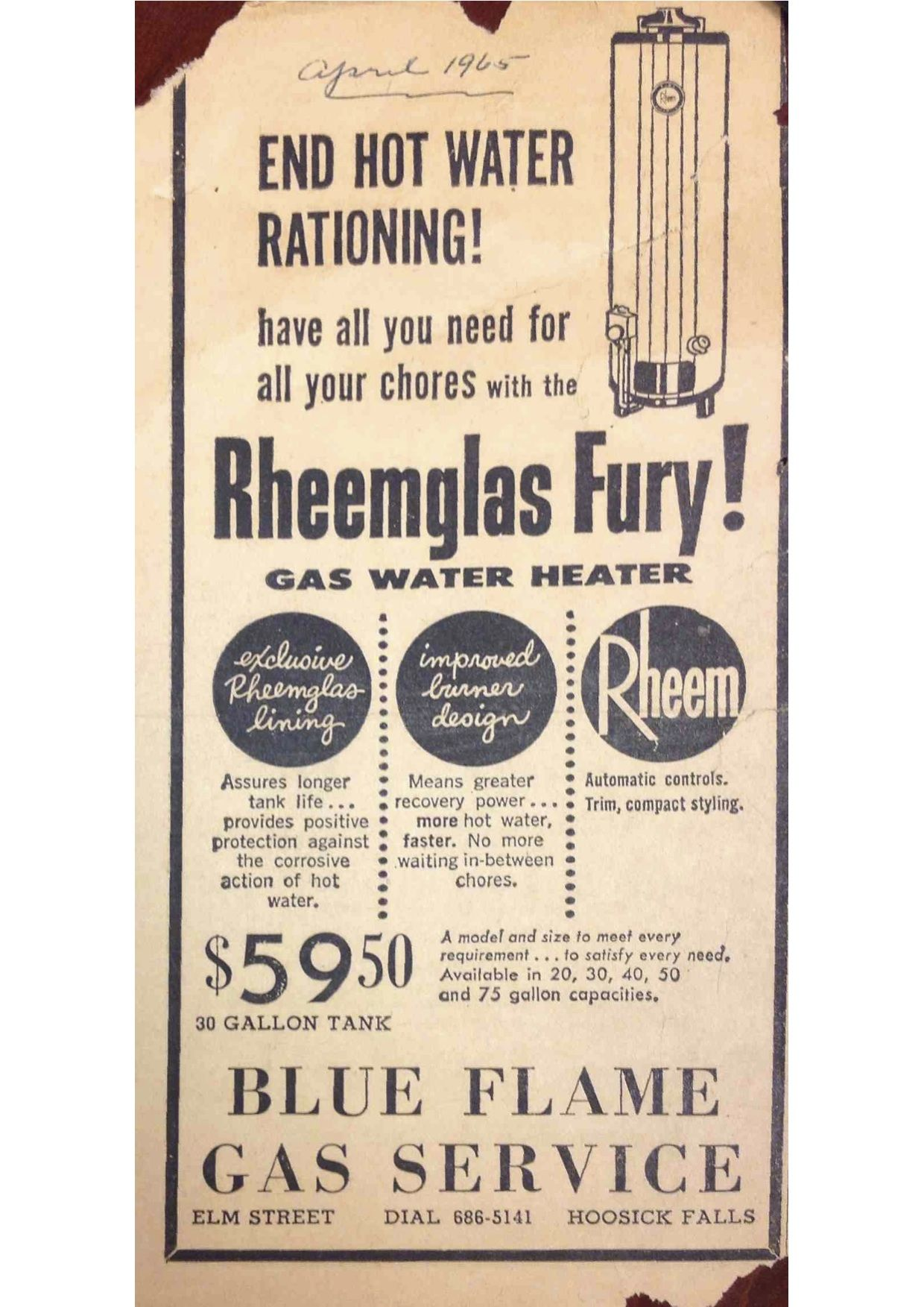 How The Times And Prices Have Changed Vintage Rheemcomfort Rheemglas