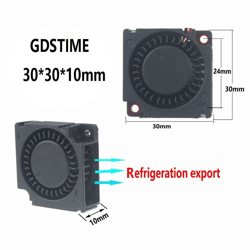 17 Off Gdstime 2 Pcs 3cm Smart Fan 30mm Blower Fan Dc 3010