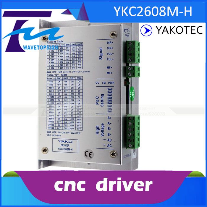 Yako Two Phase Stepper Motor Driver Ykc2608m H Match With 57 86 Serial Stepper Motor Cnc Router Use Stepper Motor Router Cnc Router
