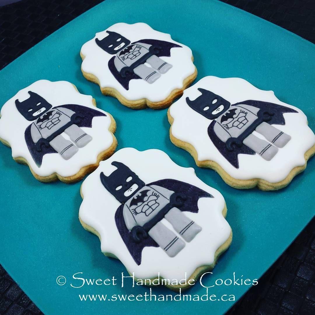 Lego Batman Cookies Sweethandmadecookies Customcookies