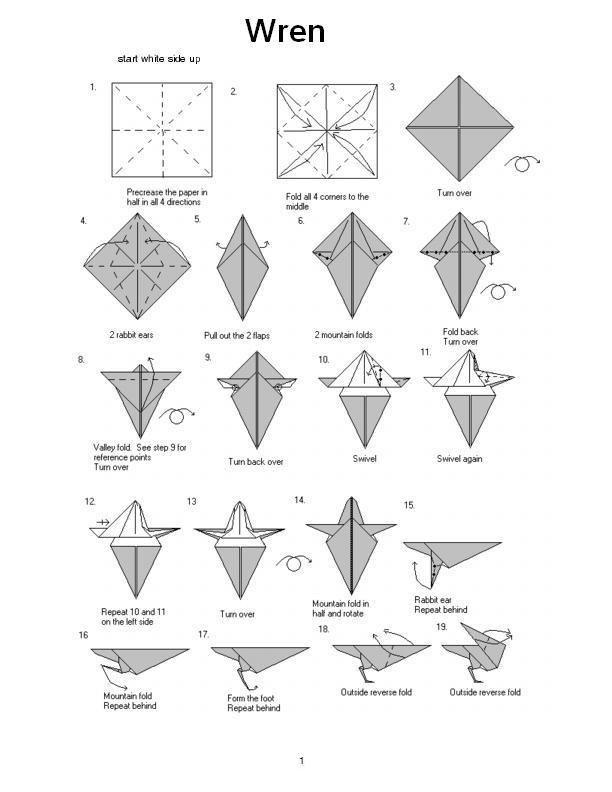 Making Wren | ori gumi | Origami easy, Origami, Wren