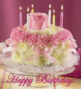 Happy Birthday Cake Bouquet
