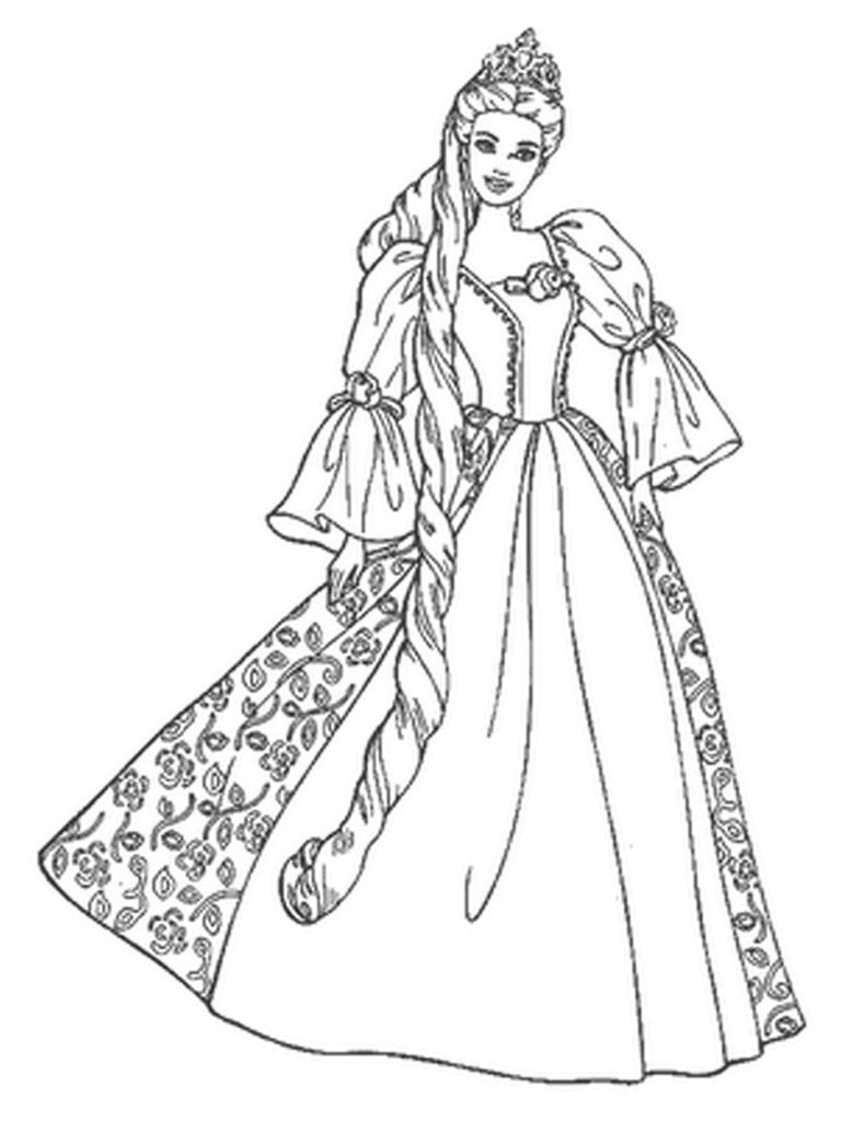 Barbie Coloring Pages For Girls  Rapunzel coloring pages
