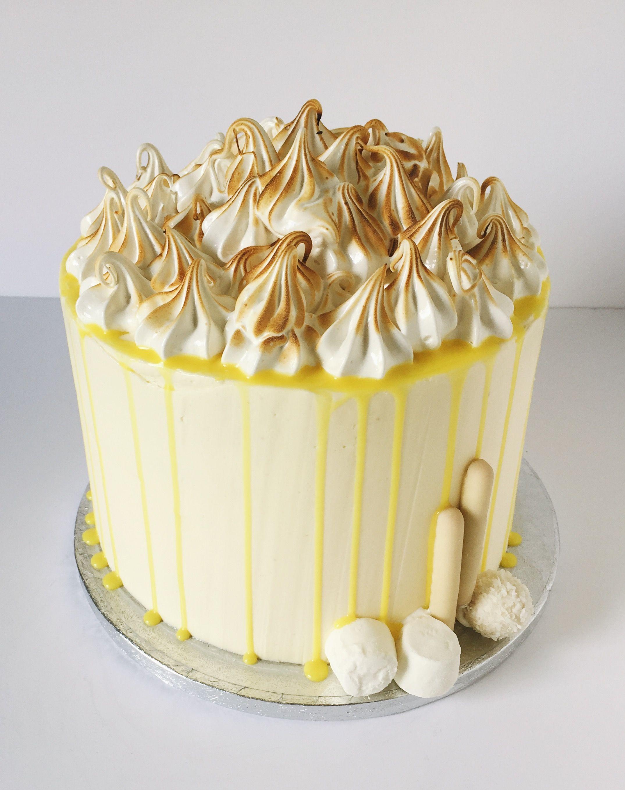 Lemon Meringue Pie Cake With Meringue Marshmallow Frosting Lemon