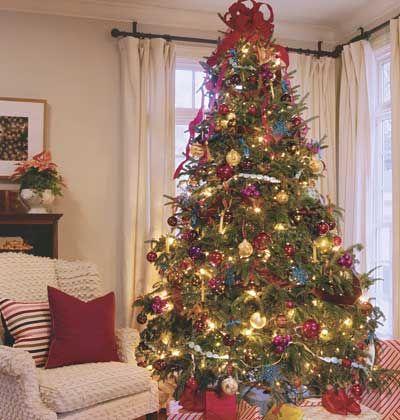 Day 6: Jewel-Toned < 12 Days of Christmas Trees - MyHomeIdeas.com ...