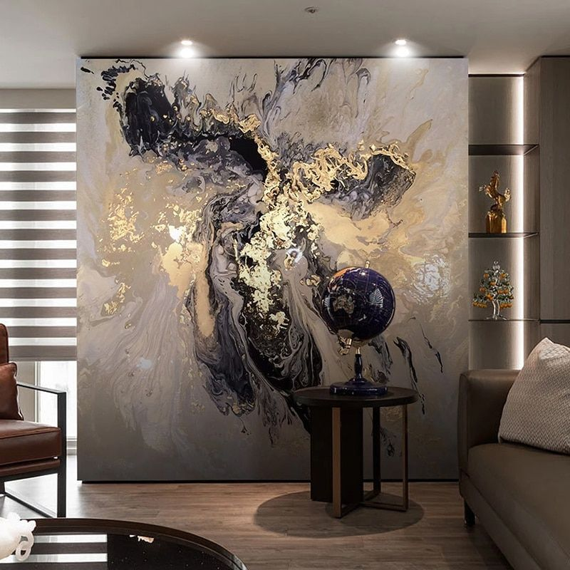 Custom Photo Wallpaper Murals 3d Stereoscopic Golden Tree Leaves Creative Art Living Room Tv Background Wall Papers Home Decor Wall Painting Living Room Dining Room Wall Art Wall Murals