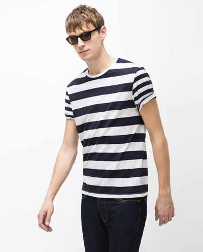 8cd93ad4 Image 2 of STRIPED T-SHIRT from Zara | Found Items | Mens tops, Zara ...