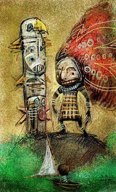juanbjuan children illustration: cuando te canses de crecer desembarca en la isla fantasia.