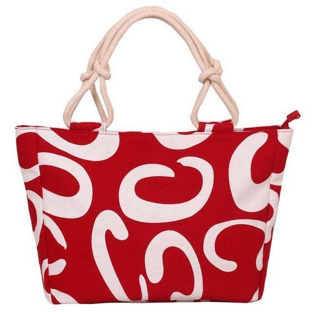 2017 Fashion Folding Big Size Tote Casual Flower Printing Canvas Graffiti Shoulder Beach Handbag