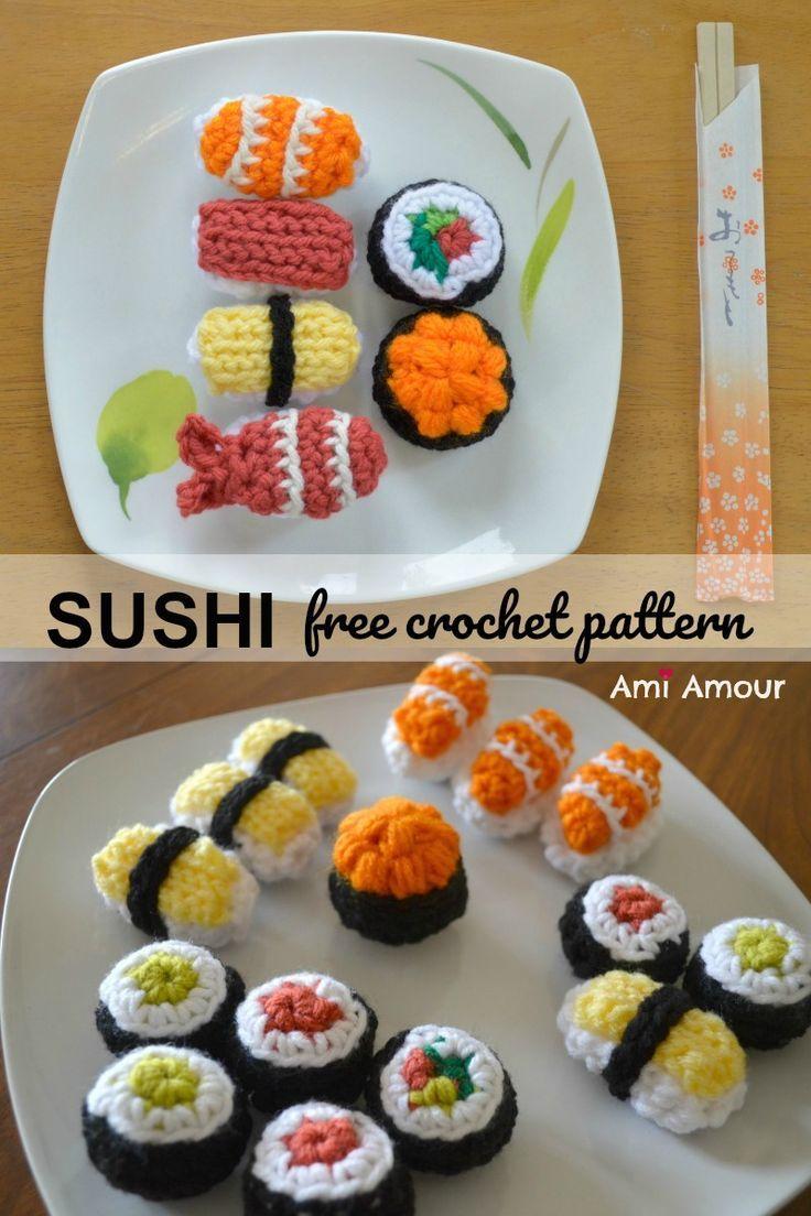 Modèle de Crochet Sushi – Amigurumi Food – Ami Amour   – Häkeln