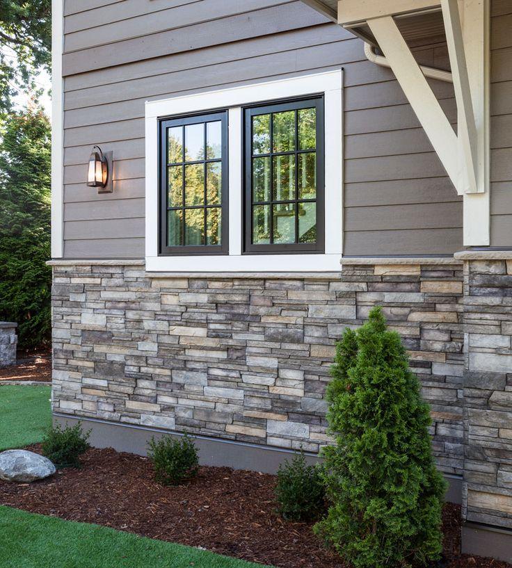 Home Exterior/Entrance: Sterling, LEDGESTONE   Versetta Stone® Brand_Stone  Siding