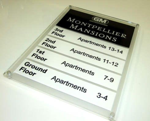 lobby building directory view door calgary office signage htm signs interior wall reception