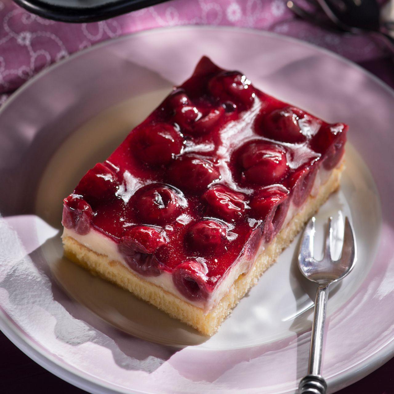 Kirsch Schmand Kuchen Vom Blech Rezept Einfach Backen Kuchen