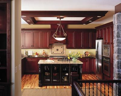 Cherry Wood Kitchens Contrasting Kitchen Island Traditional Kitchen Design Kitchen Design