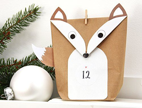 diy adventskalender fuchs set weiss 24 geschenkt ten f r m nner zum bef llen basteln. Black Bedroom Furniture Sets. Home Design Ideas