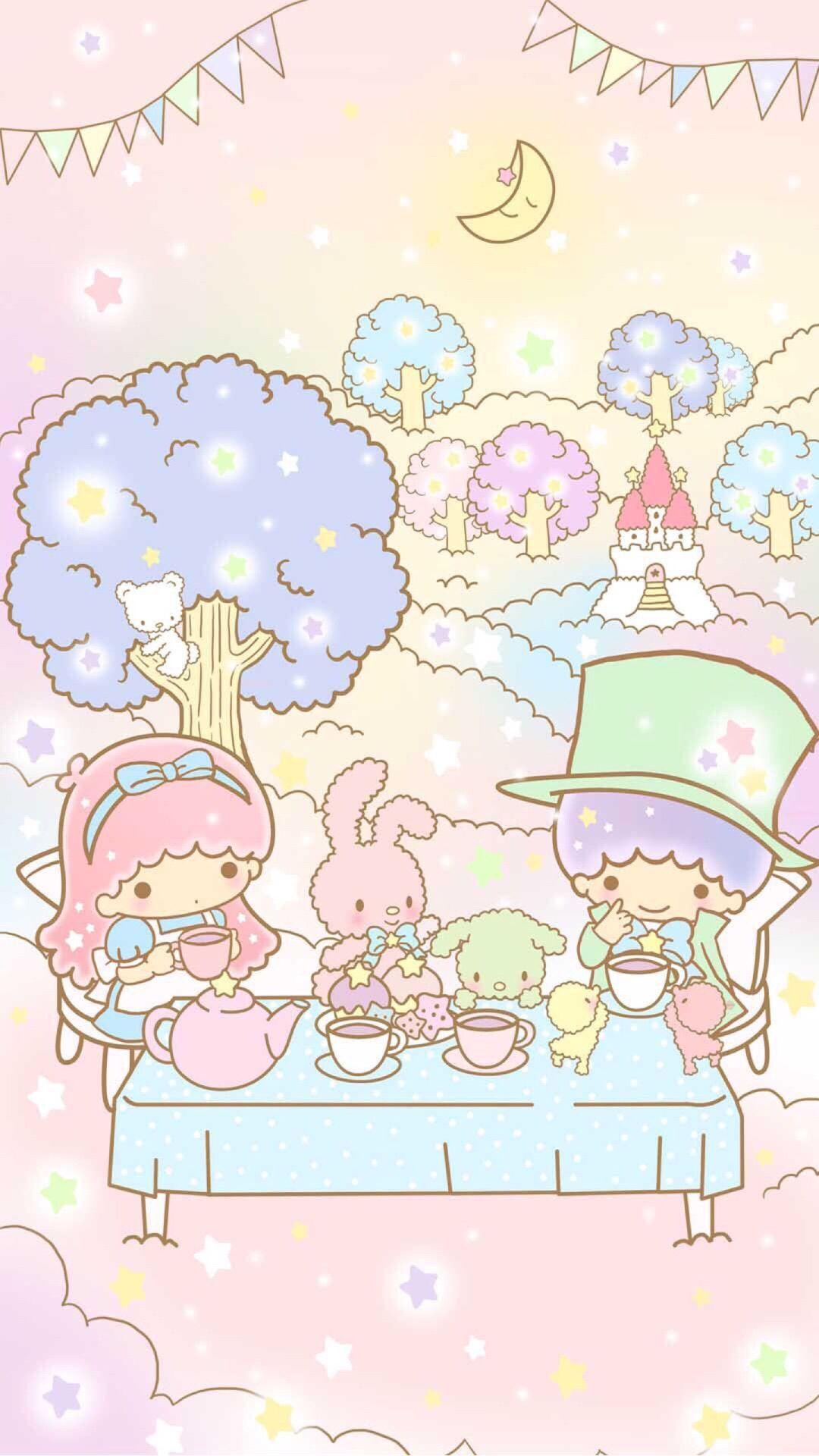Little Twin Stars キキララ 壁紙 キキララ イラスト サンリオ