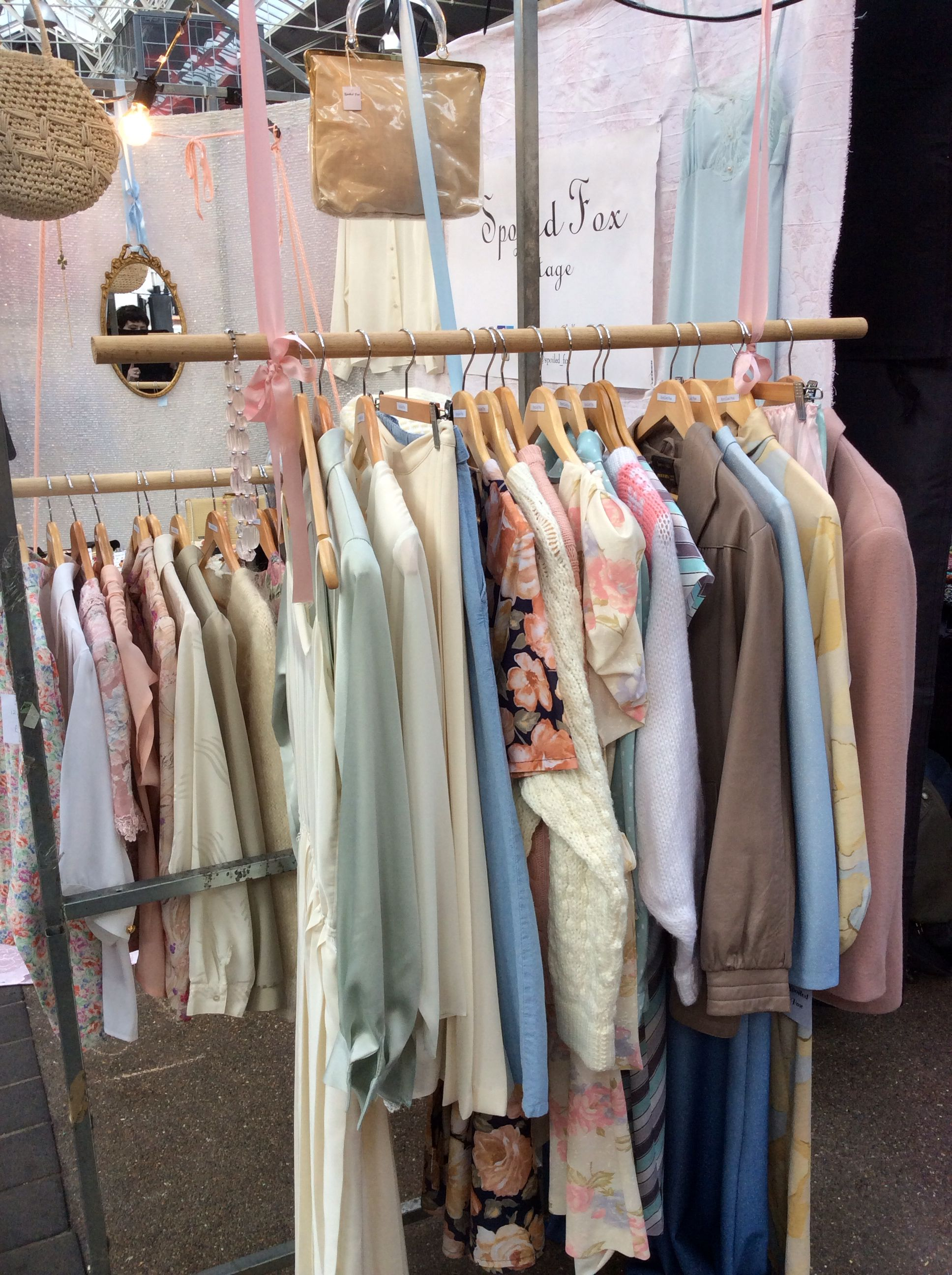 Vintage Market Stall In Pastels By Spoiled Fox Vintage Clothing