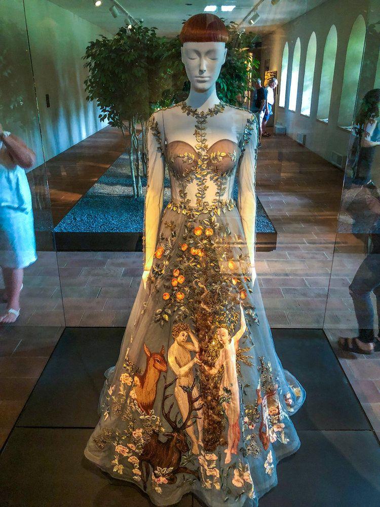 Met Heavenly Bodies Exhibition The Cloisters The Creative Adventurer Met Gala Eden Dress The Cloisters