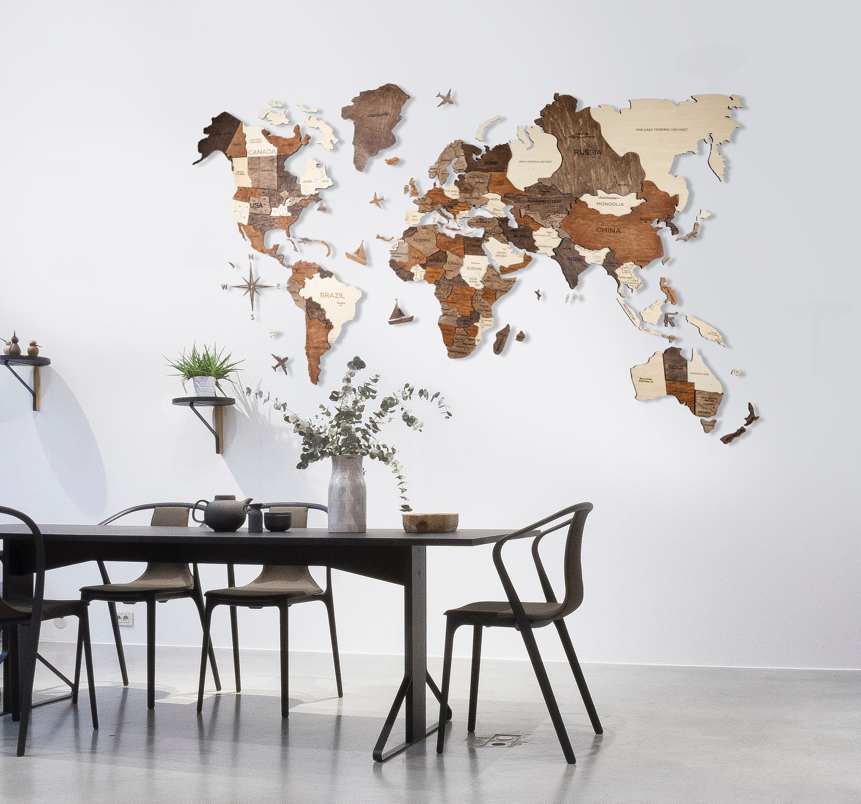Wand Holz Karte Der Weltkarte Reise Push Pin Karte Rustikale Etsy Wood World Map Boyfriend Wall Art Wooden Map