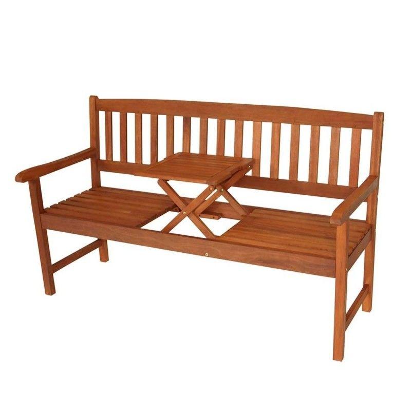 Gartenbank Prattlo Mit Integriertem Tisch Gartenbank Holzbank Garten Sitzbank