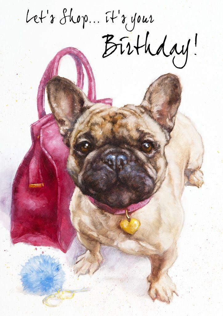 French Bulldog Birthday Card Frenchie Birthday Card Dog Cards French Bulldog Puppies French Bulldog