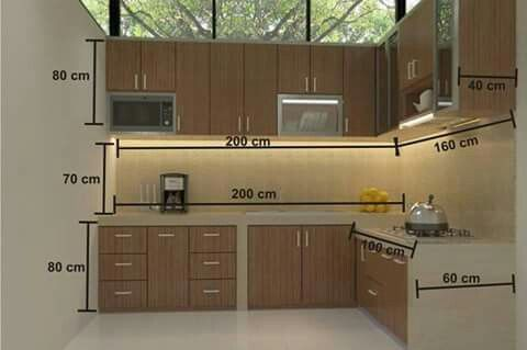 Ukuran Standar Dapur Dapur In 2018 Pinterest Kitchen Kitchen
