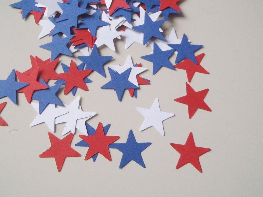 Independence Day 100 Blue White Red Paper Stars American