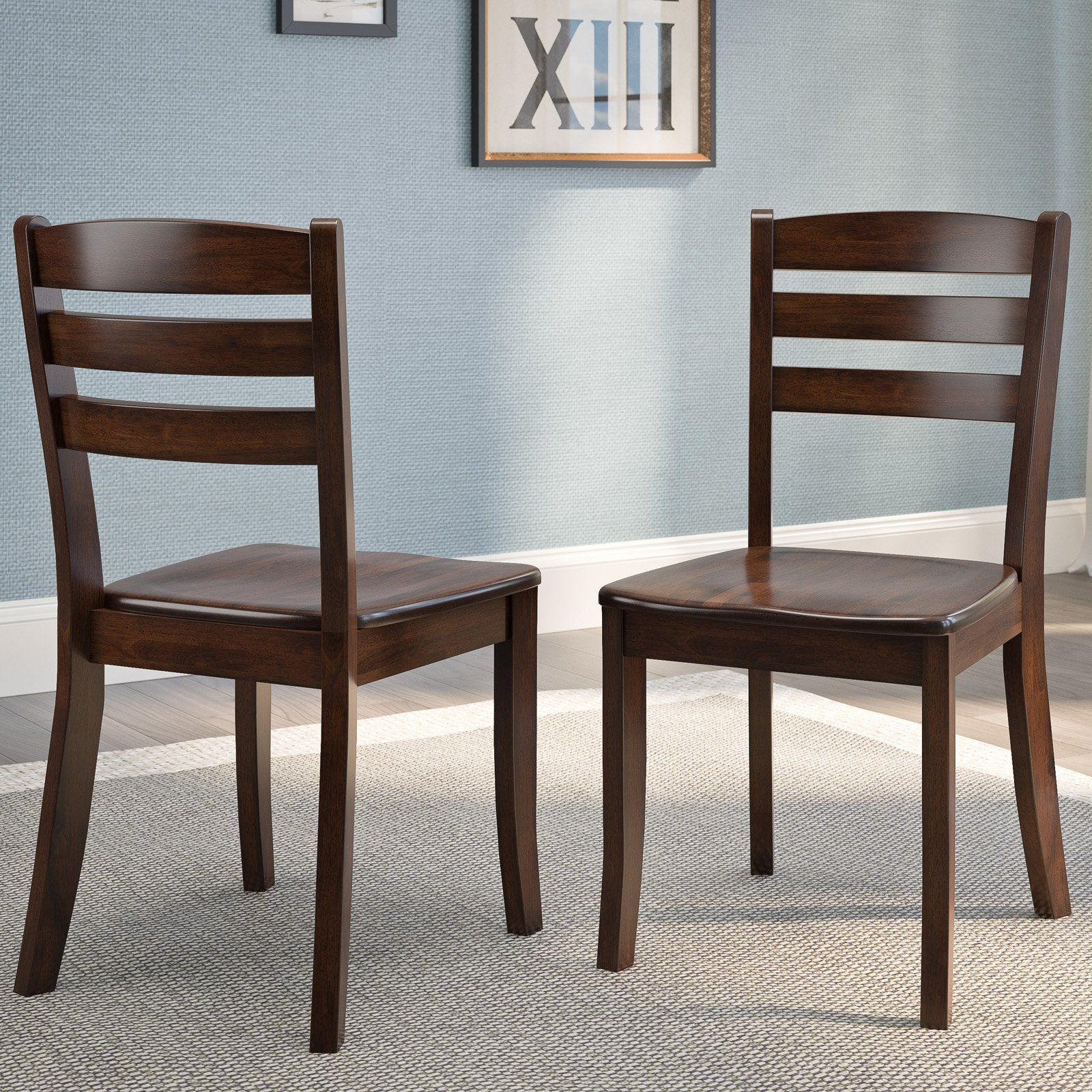 Wondrous Corliving Dillon Horizontal Slat Dining Chair Set Of 2 In Inzonedesignstudio Interior Chair Design Inzonedesignstudiocom