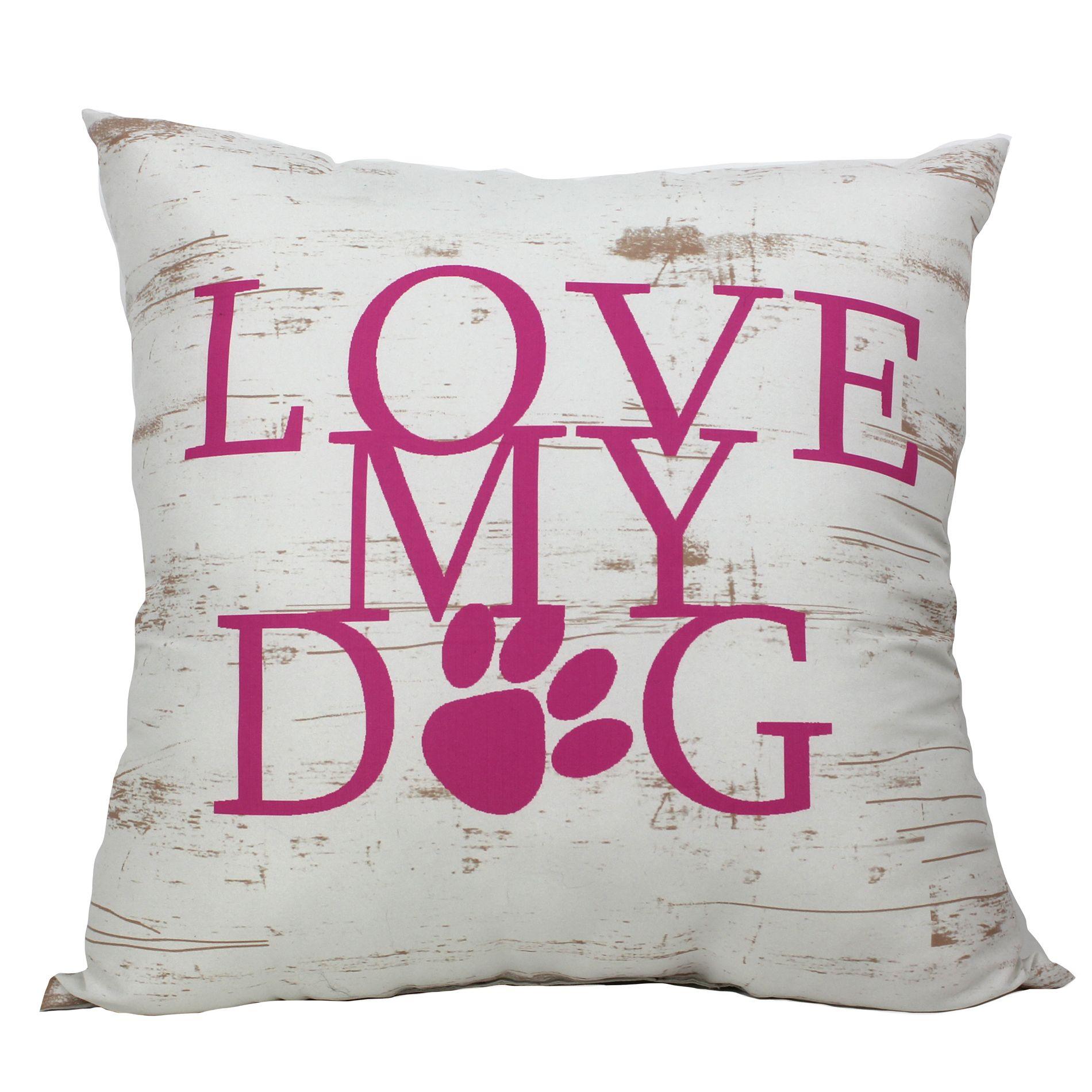 TAC Home Love My Dog Pillow, Multi Kmart decor, Pillows