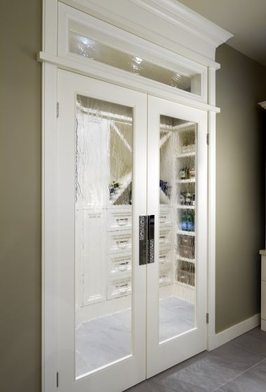 Foggy Glass Door Look Is Pretty Neat Walking Into The Pantry