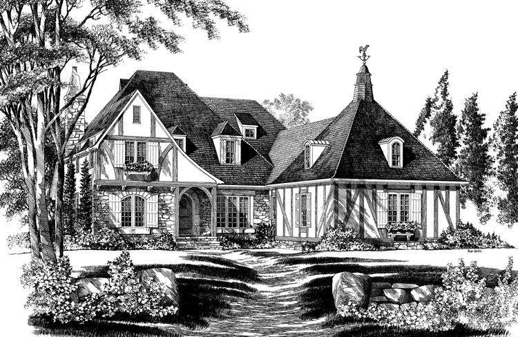 House Plan 7922 00095 Tudor Plan 3 207 Square Feet 4