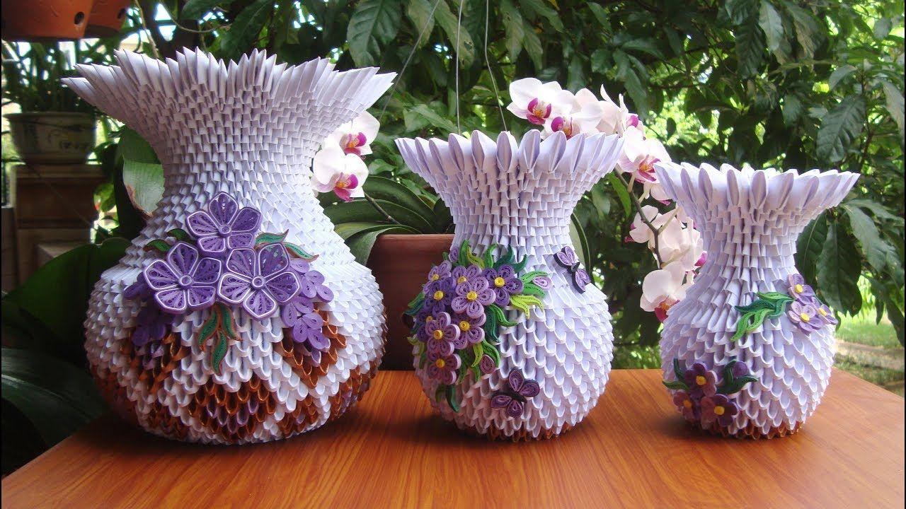 How to make 3d origami flower vase v10 diy paper flower vase how to make 3d origami flower vase v10 diy paper flower vase handmade mightylinksfo