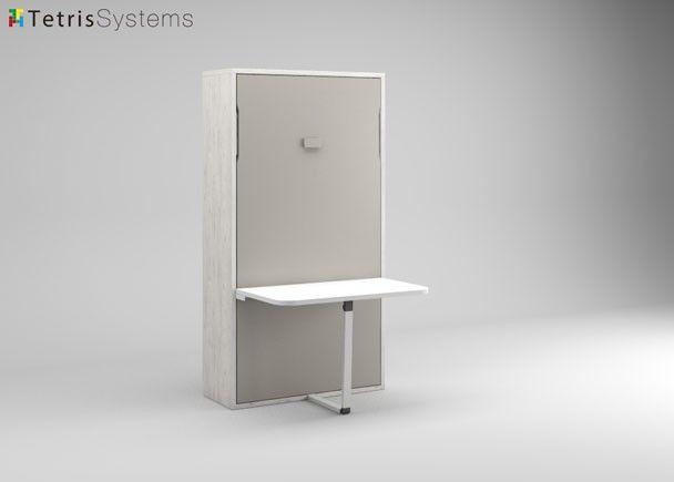 #Cama #abatible Cama #plegable individual con mesa 190 x 90 vertical 515-FL004