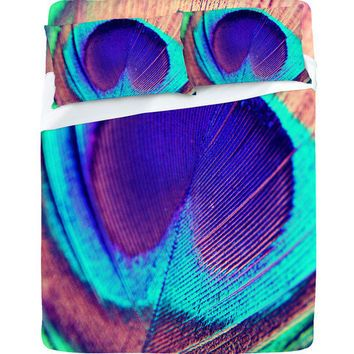 DENY Designs Home Accessories | Shannon Clark Pretty Peacock Sheet Set $199.00 from DENY Designs