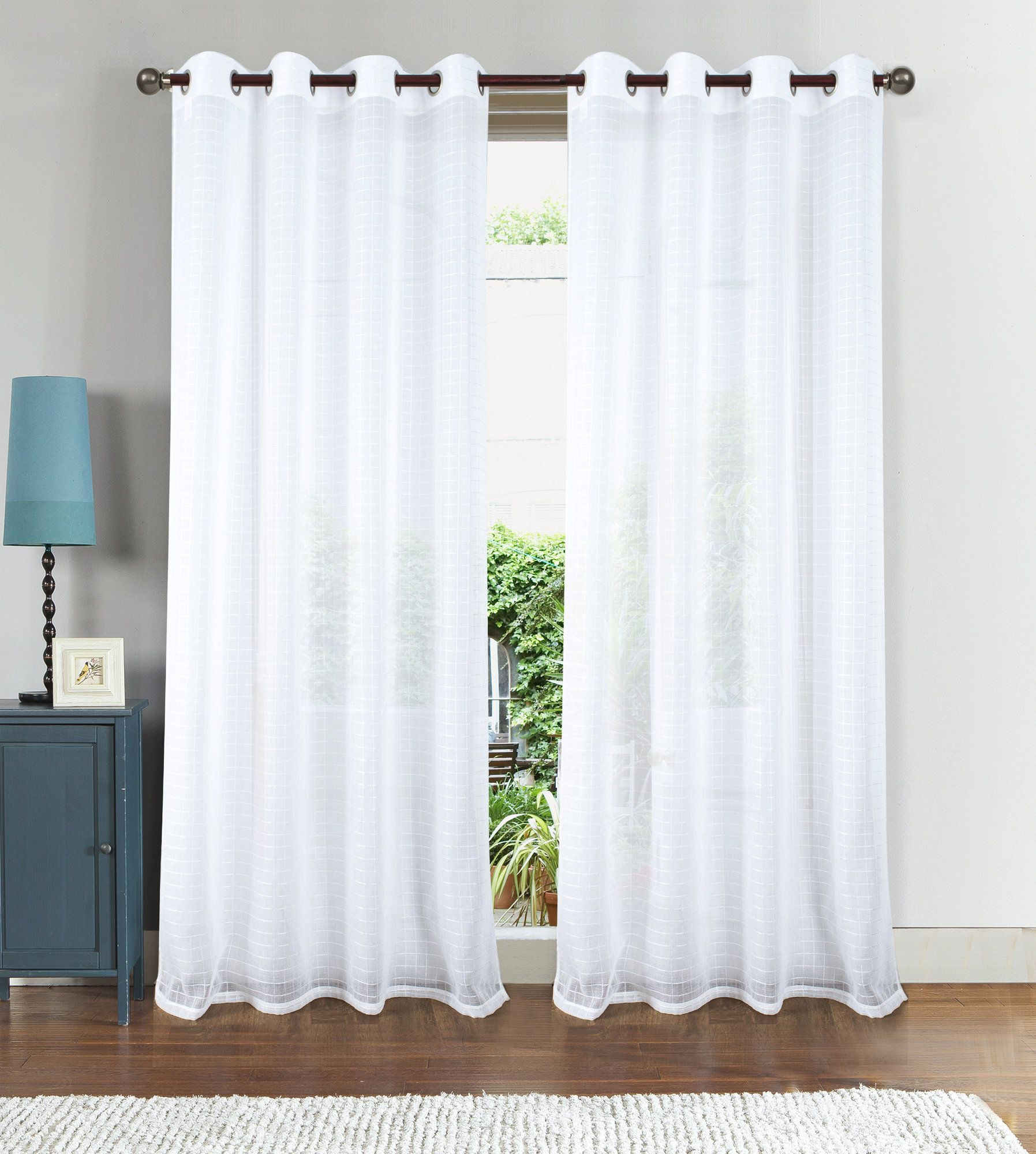 Nile Box Doily Grommet Single Curtain Panel