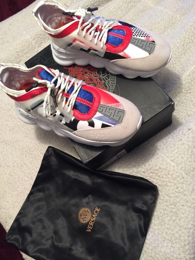 Versace chain, Versace sneakers, Versace