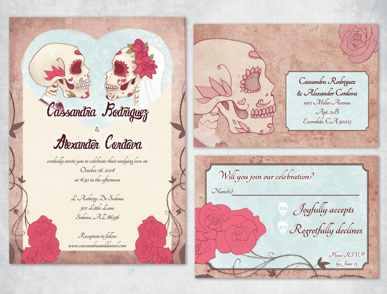 Awkward Affections For Every Geek When Geeks Wed Wedding Invitations Skull Wedding Invitation Geeky Wedding