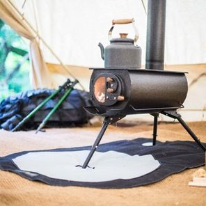 Portable Wood Burning Stove Offers Heat On The Go Estufa De Leña Portátil Estufas De Leña Tienda